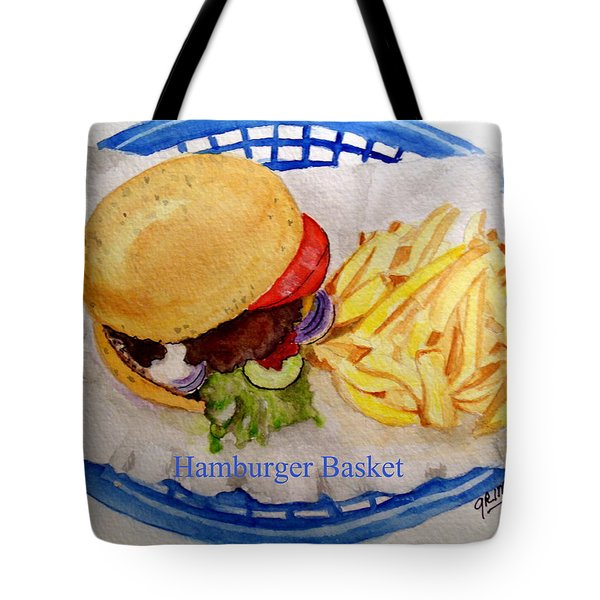 Hamburger Basket Tote Bag