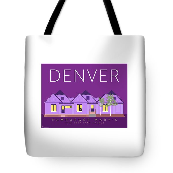 Tote Bag featuring the digital art Hamburger Mary's by Sam Brennan