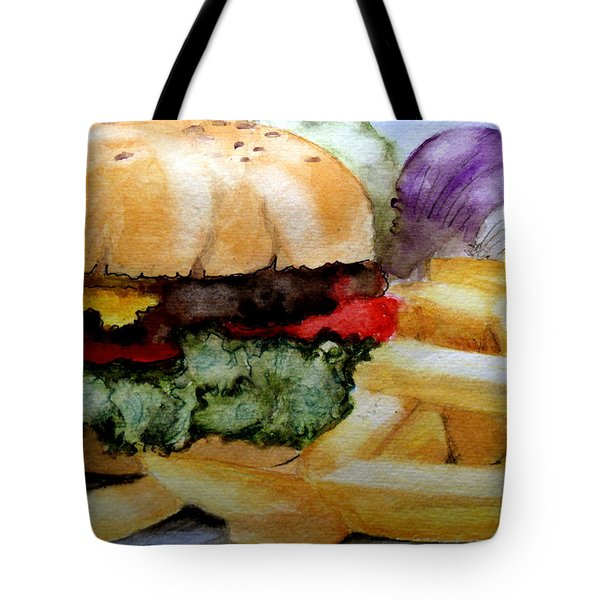 Hamburger  With Fries Tote Bag