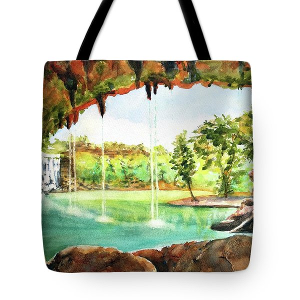 Hamilton Pool Texas Tote Bag