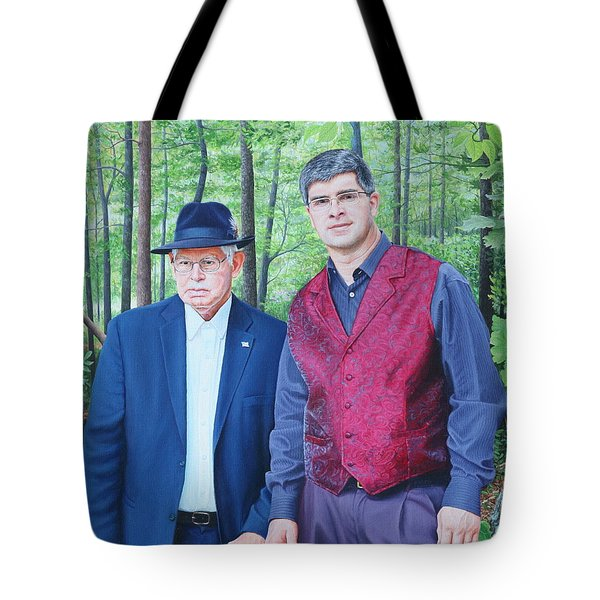 Tote Bag featuring the painting Hamilton Portrait by Mike Ivey