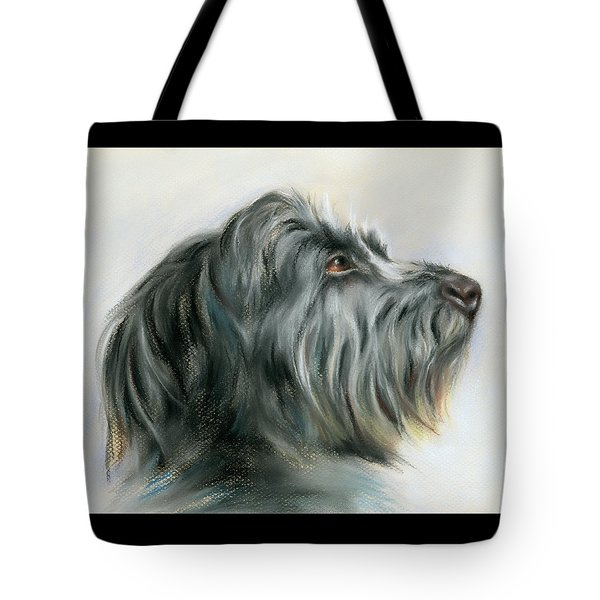 Hamish The Wolfhound Tote Bag by MM Anderson