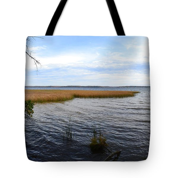 Tote Bag featuring the photograph Hamlin Lake In Autumn by Michelle Calkins