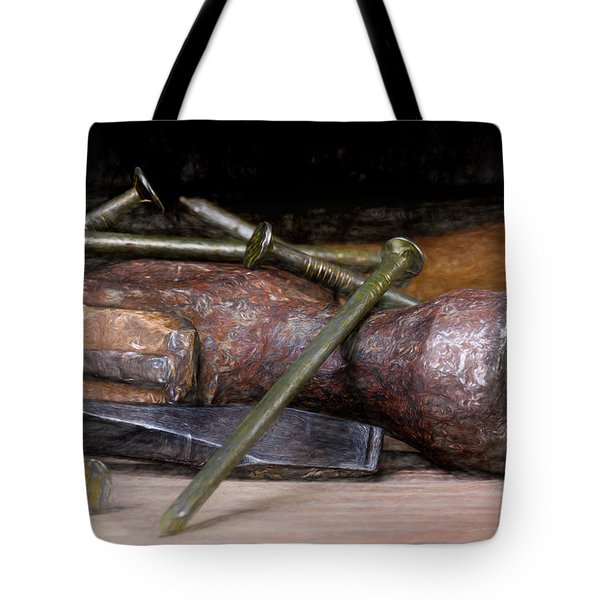Hammer And Nails Tote Bag