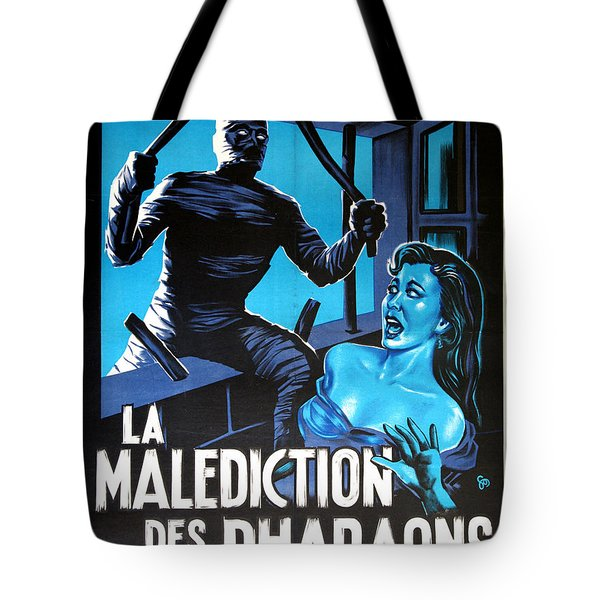 Hammer Movie Poster The Mummy La Malediction Des Pharaons Tote Bag by R Muirhead Art