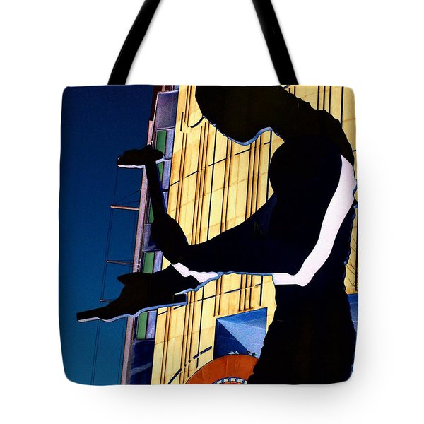 Hammering Man Tote Bag by Tim Allen