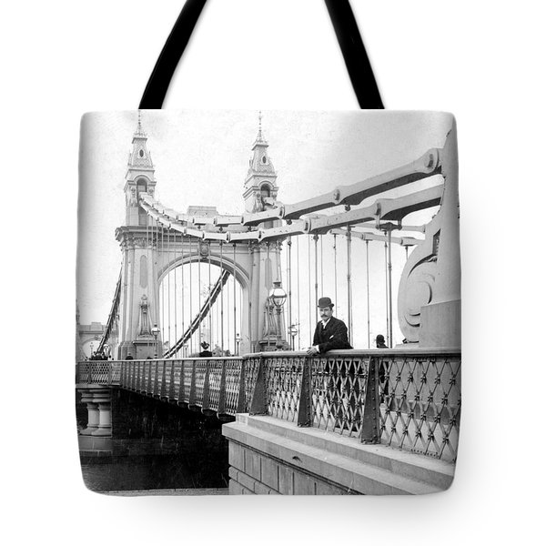 Hammersmith Bridge In London - England - C 1896 Tote Bag