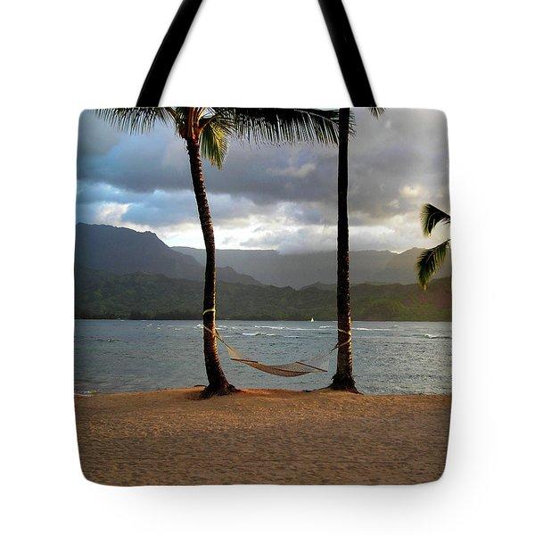 Hammock At Hanalei Bay Tote Bag