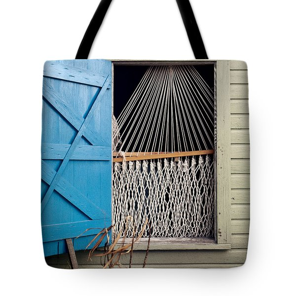 Hammock In Key West Window Tote Bag