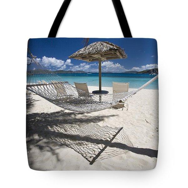 Hammock On The Beach Tote Bag