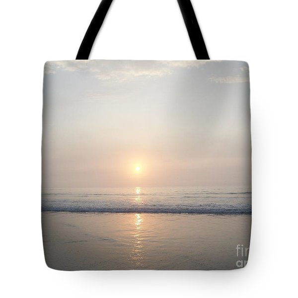 Hampton Beach Sunrise Tote Bag by Eunice Miller
