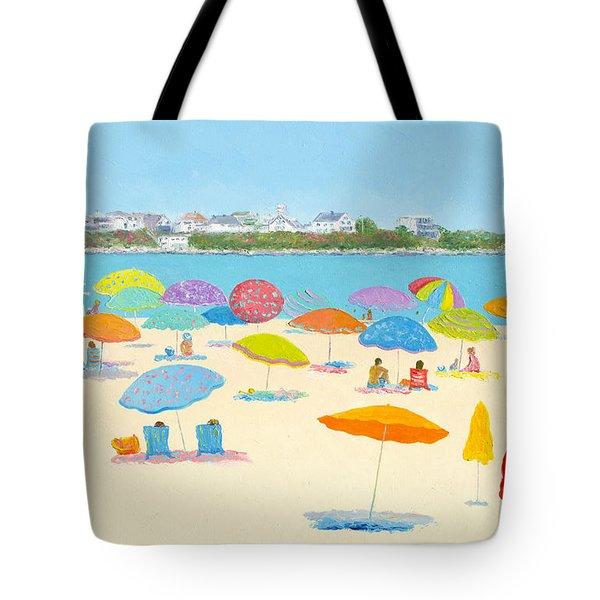 Hampton Beach Umbrellas Tote Bag