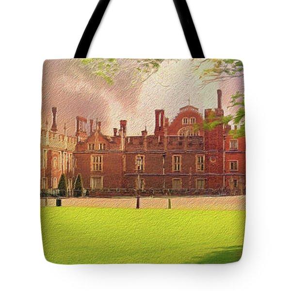 Hampton Court Palace Panorama Tote Bag