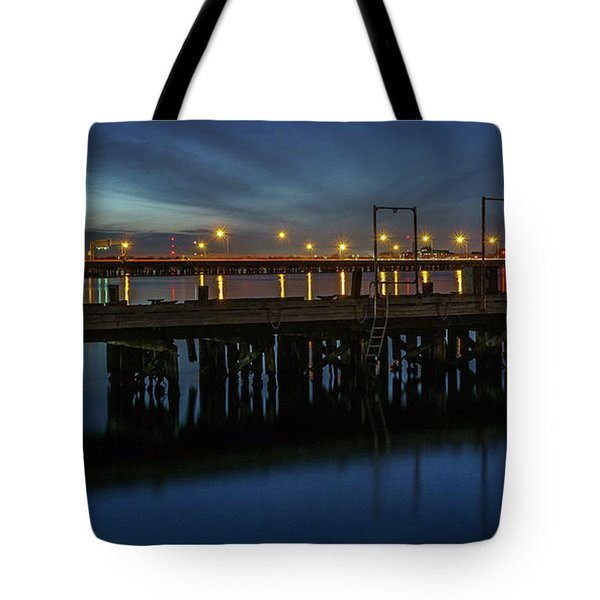 Hampton Roads Bridge Tunnel Tote Bag
