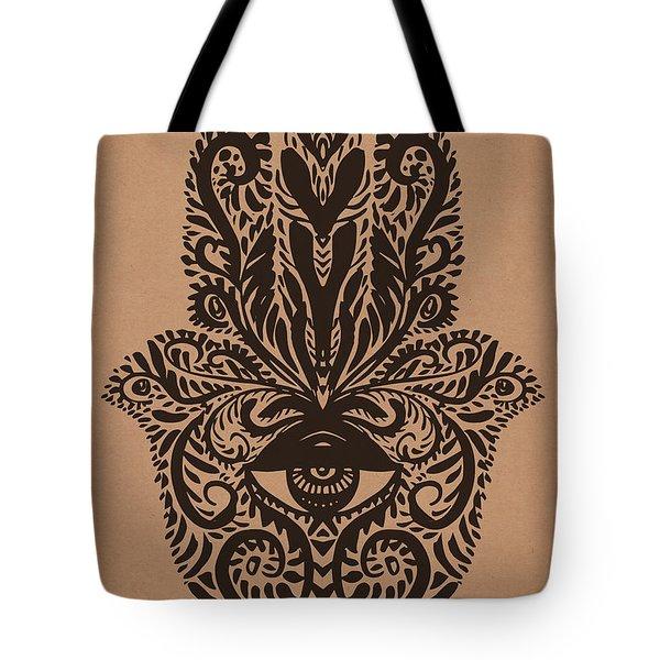 Hamsa Hand Tote Bag
