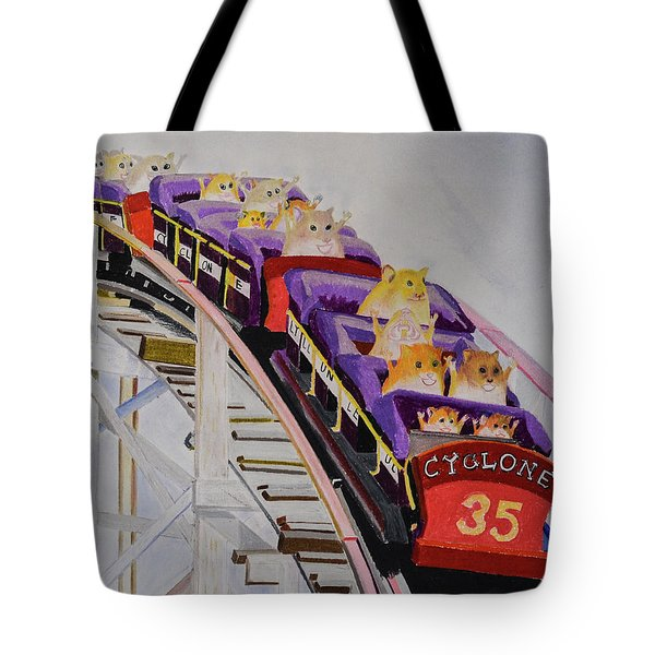 Hamster On Roller Coaster Tote Bag