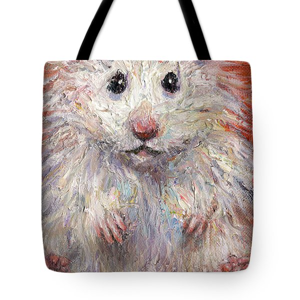 Hamster Painting  Tote Bag