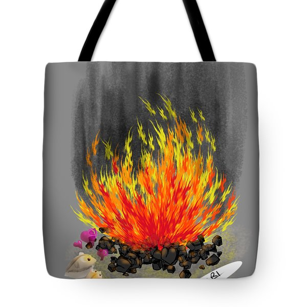 Hamsters By A Fire Tote Bag