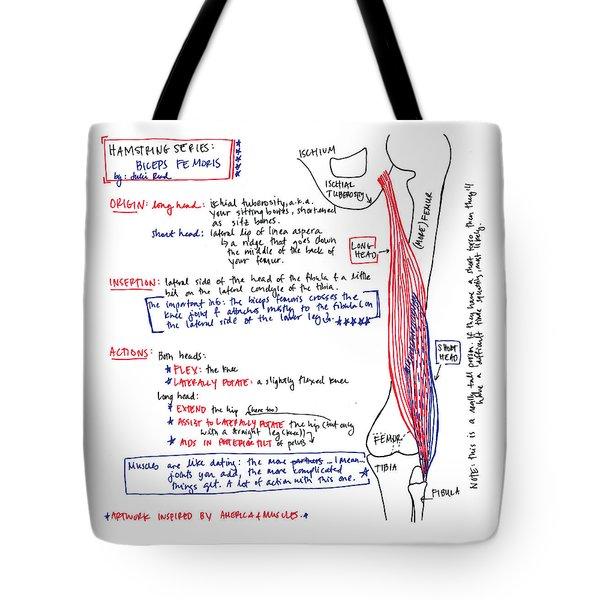 Hamstring Series Biceps Femoris Tote Bag