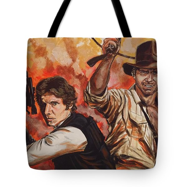 Han Solo And Indiana Jones Tote Bag
