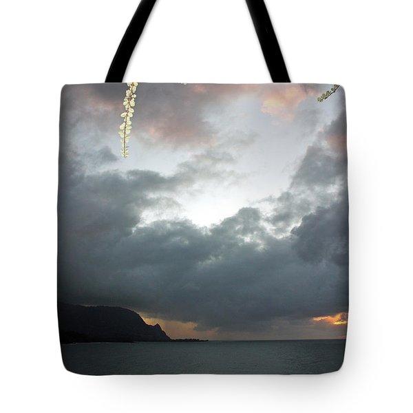 Hanalei Bay Sunset Tote Bag by Kathy Yates