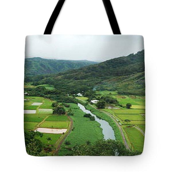 Hanalei Taro Fields Tote Bag by Michael Peychich