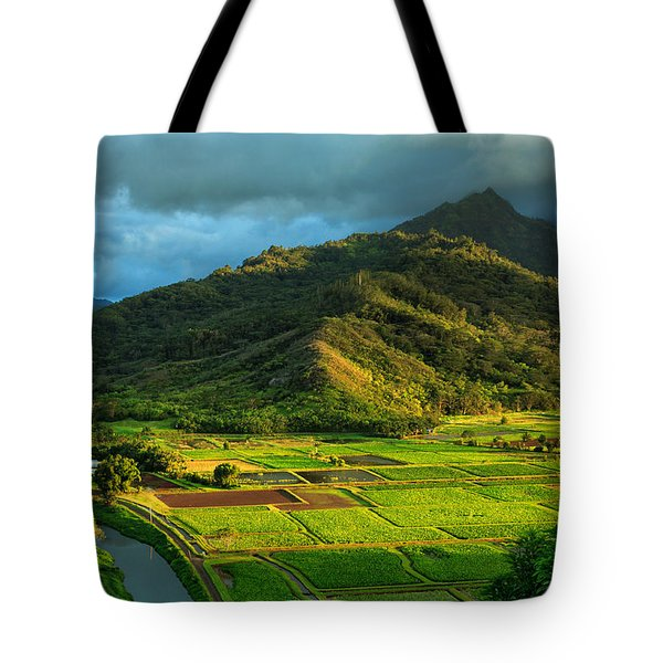 Hanalei Valley Taro Fields Tote Bag