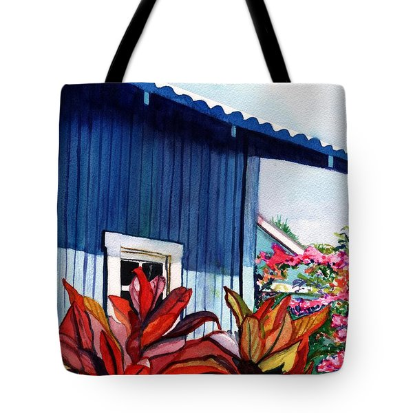 Hanapepe Town Tote Bag by Marionette Taboniar