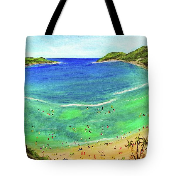 Hanauma Bay Hawaiian #336 Tote Bag by Donald k Hall