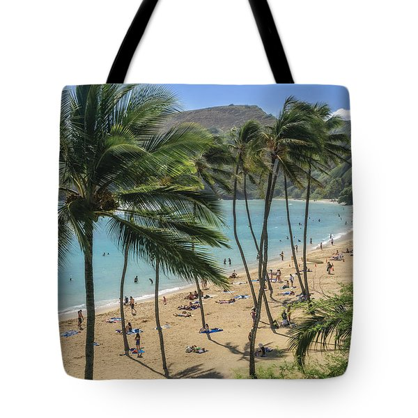 Tote Bag featuring the photograph Hanauma Bay by Steven Sparks