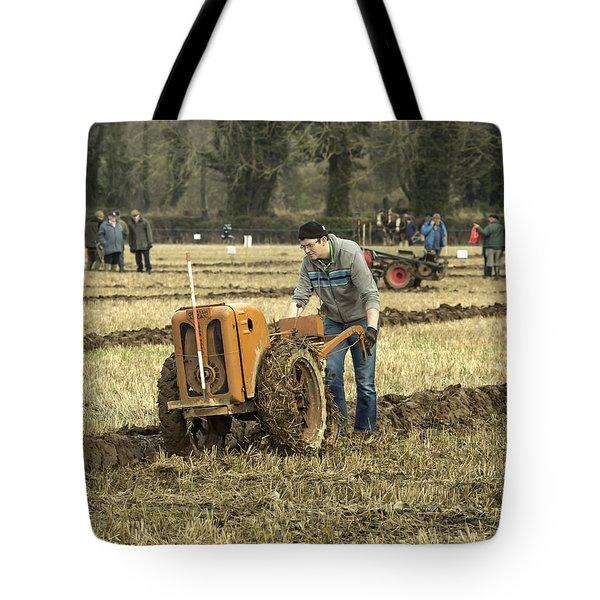 Tote Bag featuring the photograph Hand Held Tractor Plough by Roy McPeak