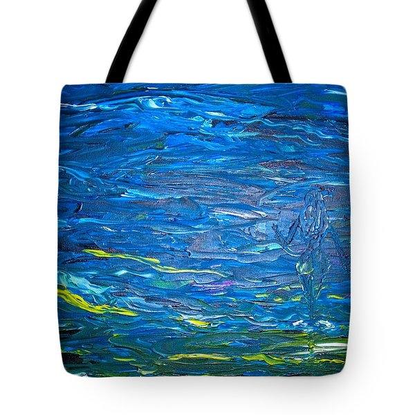 Tote Bag featuring the painting Hand In Hand by Piety Dsilva