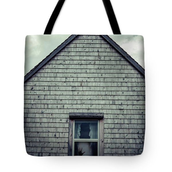 Hand In The Window Tote Bag