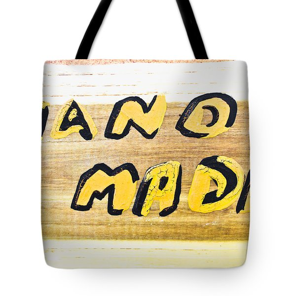 Hand Made Sign Tote Bag
