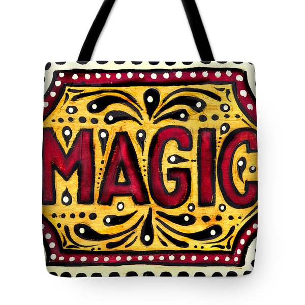 Tote Bag featuring the painting Hand Painted Magic  by Nada Meeks