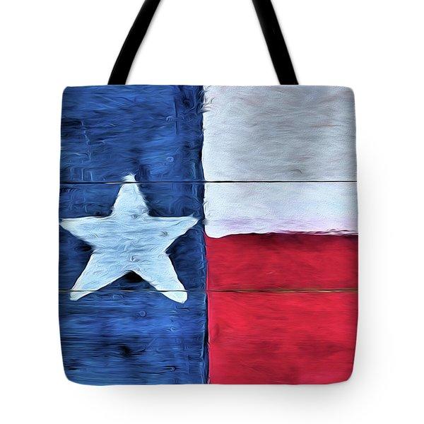 Hand Painted Texas Flag Tote Bag