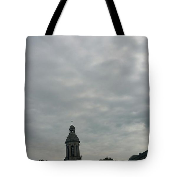 Hand Pressing The Sky Tote Bag