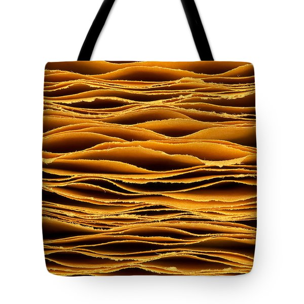 Hand Torn Paper Tote Bag by Jim Hughes