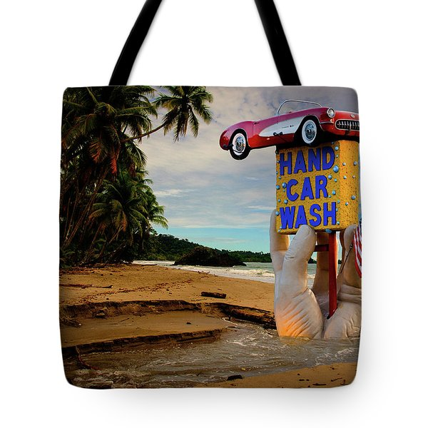 Tote Bag featuring the photograph Hand Wash by Harry Spitz