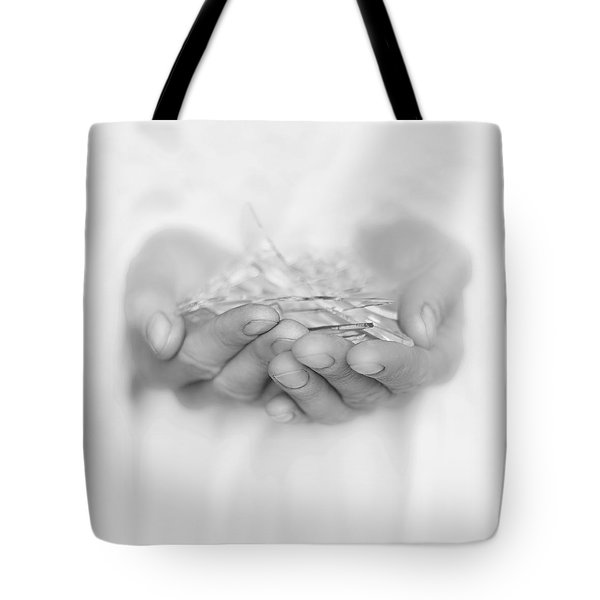 Handfull Of Shards Tote Bag
