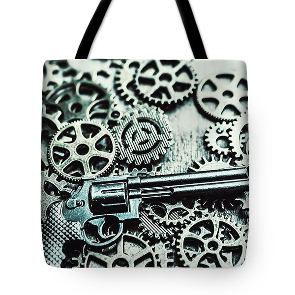Handguns And Gears Tote Bag