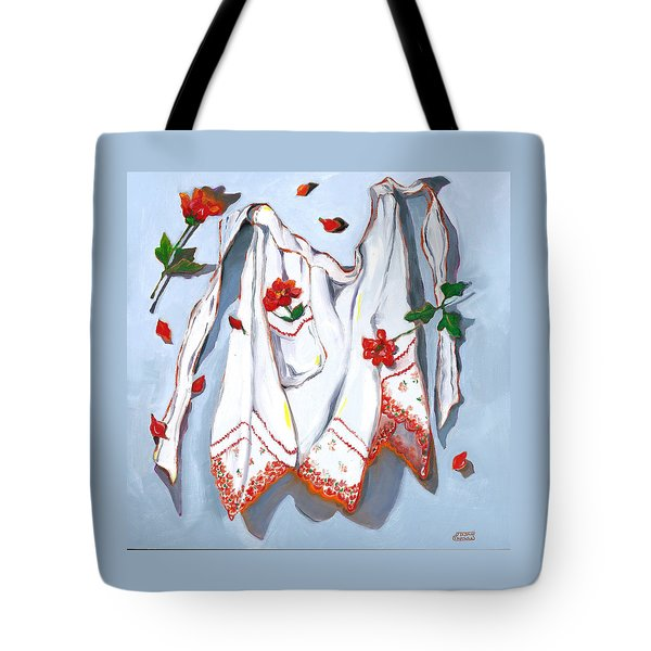 Tote Bag featuring the painting Handkerchief Apron by Susan Thomas