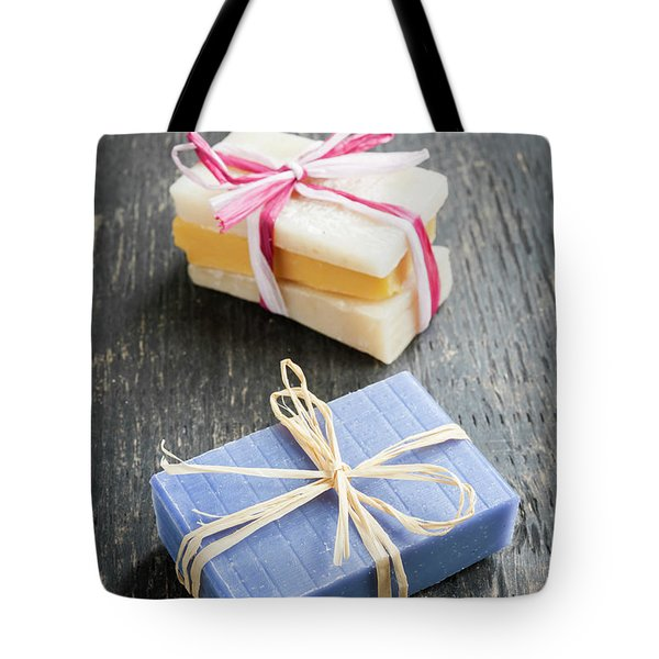 Tote Bag featuring the photograph Handmade Soaps by Elena Elisseeva