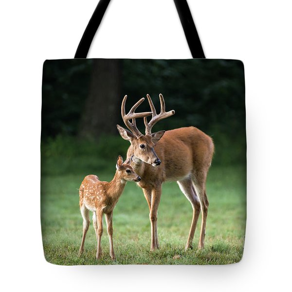 Tote Bag featuring the photograph Hands On Dad by Andrea Silies