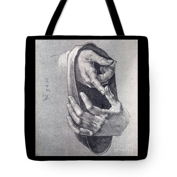 Hands  Study Tote Bag by Pg Reproductions