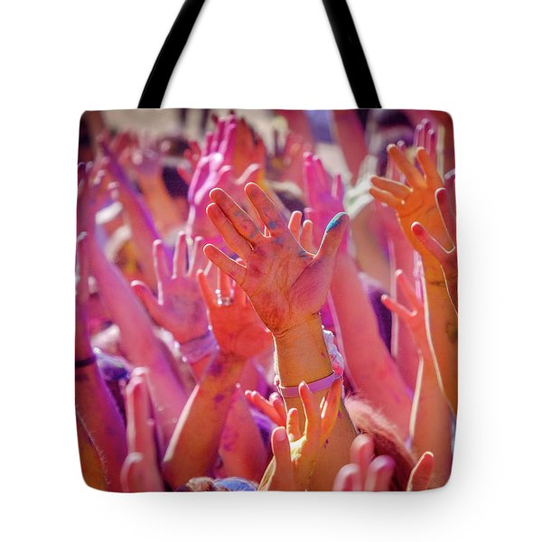 Hands Up Tote Bag