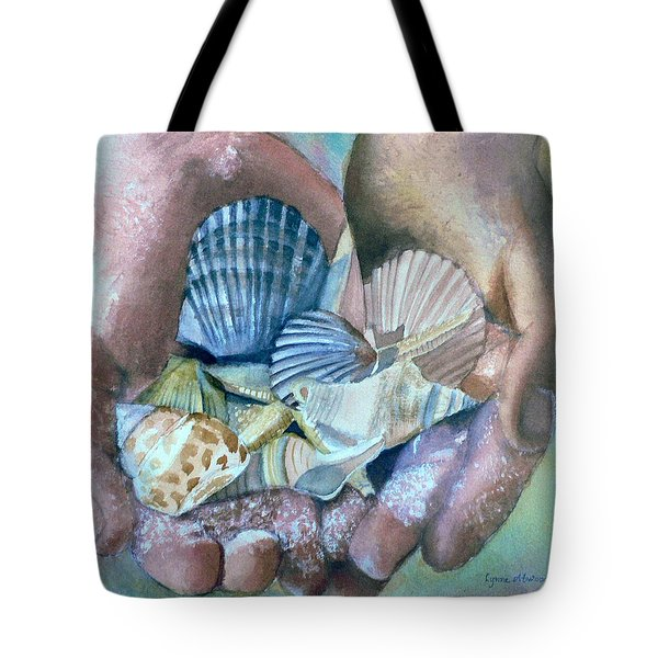 Hands With Shells Tote Bag