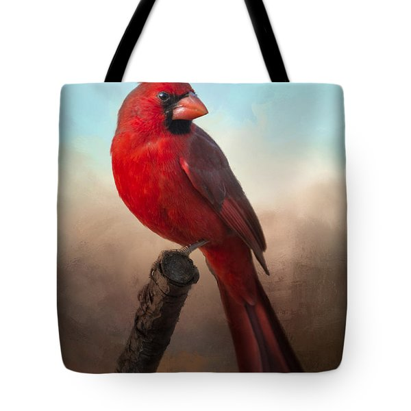 Tote Bag featuring the photograph Handsome Cardinal by Barbara Manis