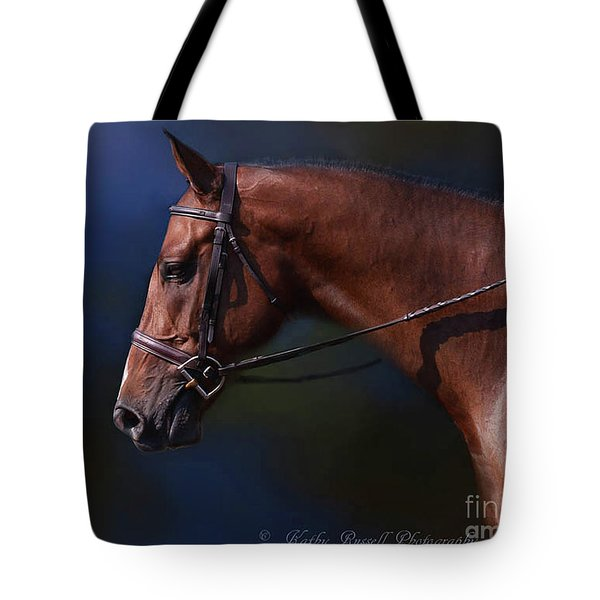 Handsome Profile Tote Bag by Kathy Russell