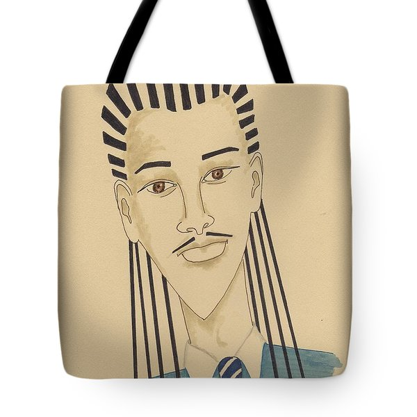 Handsome Young Man -- Stylized Portrait Of African-american Man Tote Bag